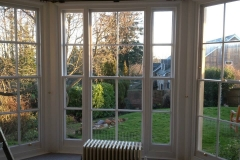 Sash Window restoration doors out to garden