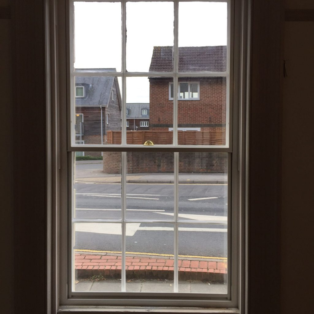 sash window restoration completed work in Lewes