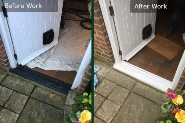 Sash Door Before and After