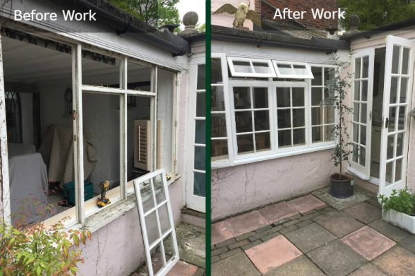 Sash Windows Kitchen Before and After