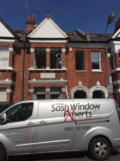 New double glazed sash windows in West London