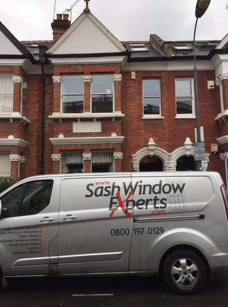 New double glazed sash windows in West London, finished result
