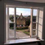 Sash window refurbishment in Amberley view from inside