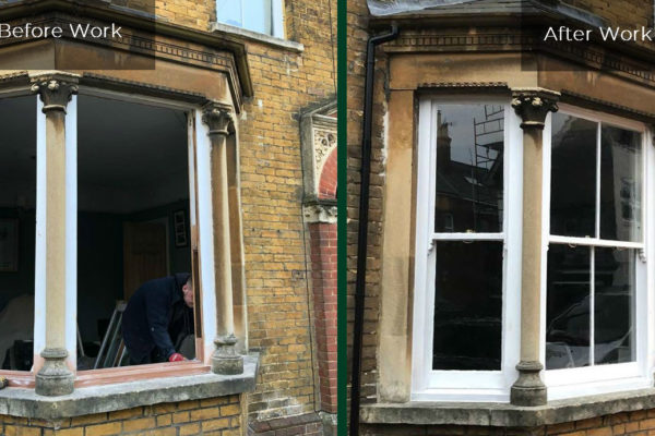 Sash Window Repair Before and After Work