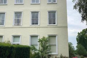 Exterior with new sash windows