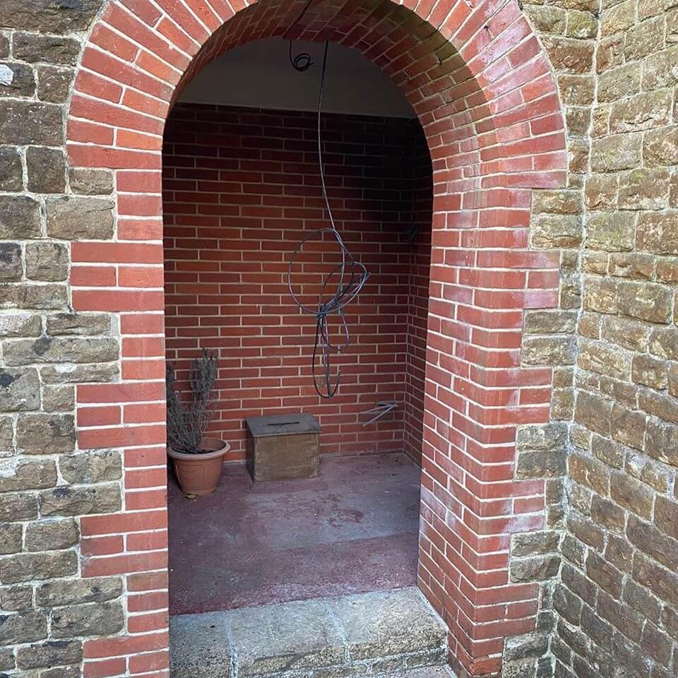 Curved front door