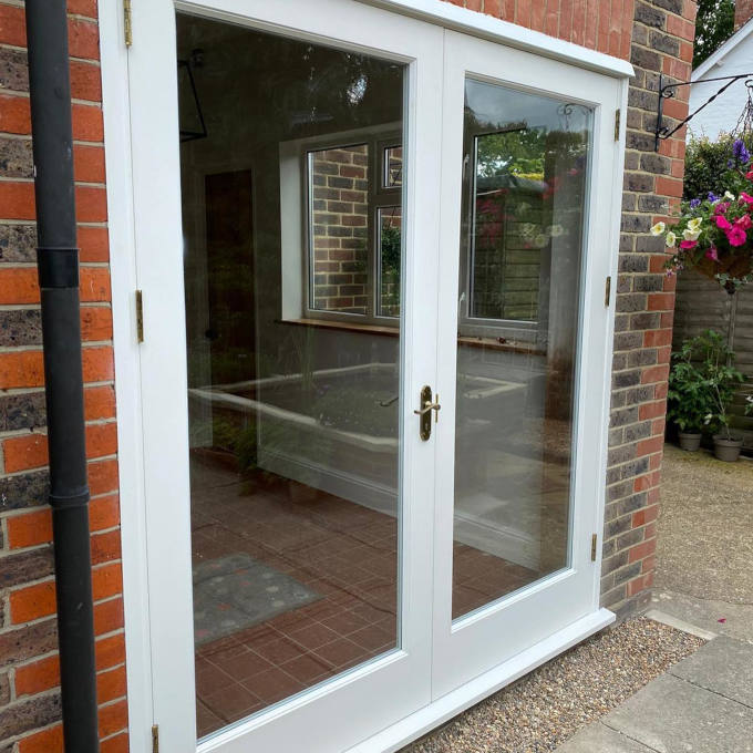 Hardwood double glazed French doors 1