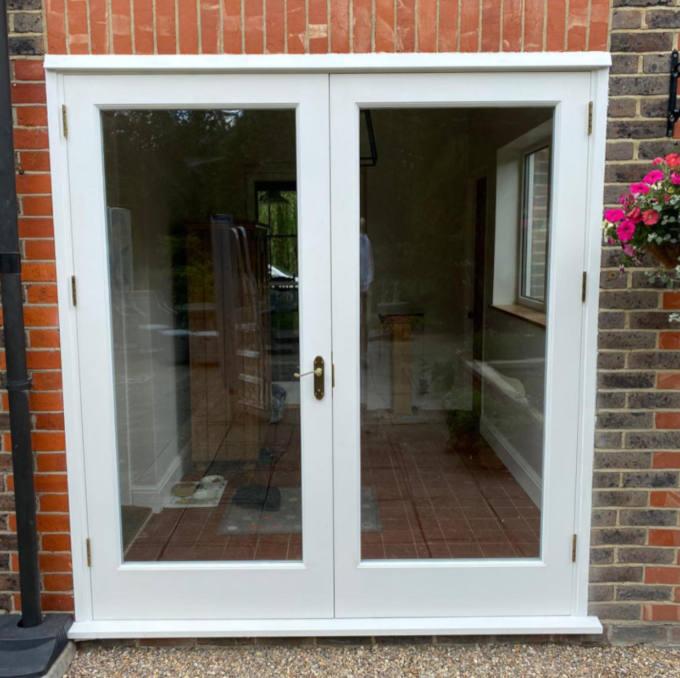 Hardwood double glazed French doors 2