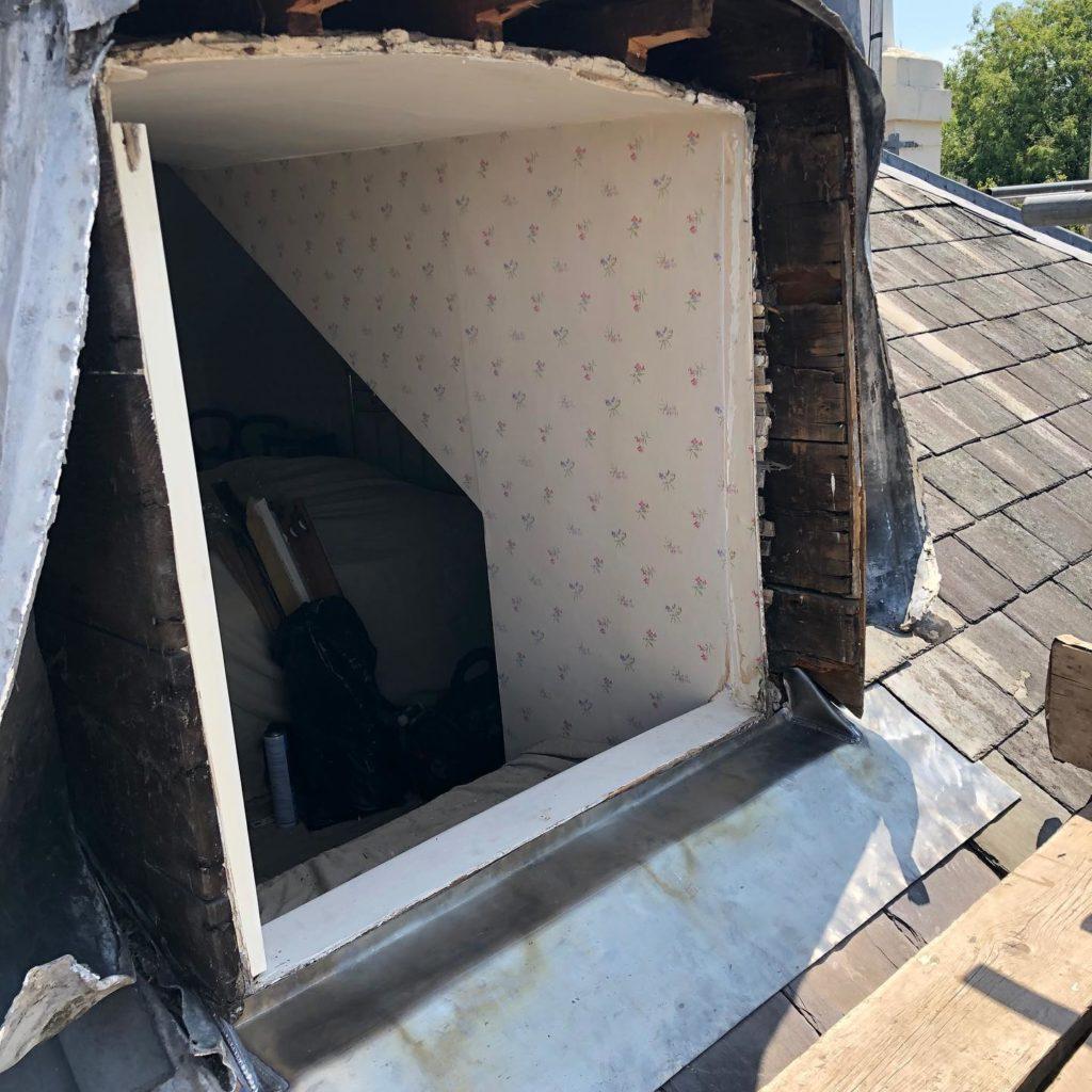 Dormer sash window removal